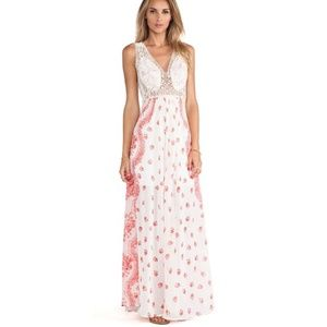NEW Free People Victorian Love Dress Cream/Red